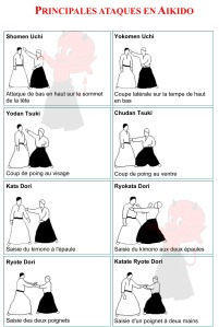 Aikido - Principales attaques en Aïkido